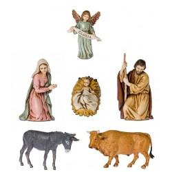 Complete nativity of 6 pcs...