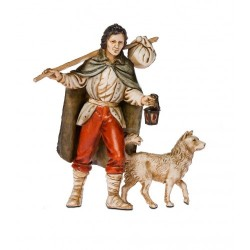 Viandante con cane cm 11