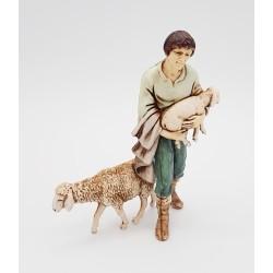 Shepherd with sheep 11 cm