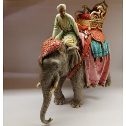 Elephant with driver 13 cm