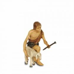 Kneeling shepherd with...