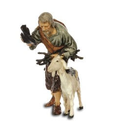 Old man with goat 13 cm