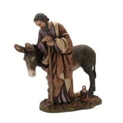 St. Joseph with donkey 20 cm