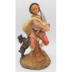 Shepherd with dog 30 cm