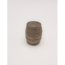 Wooden barrel with finishes