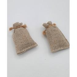 2 small jute bags