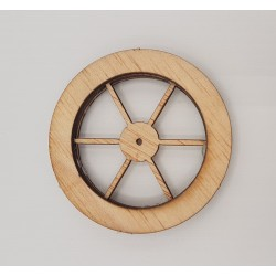 Large wooden wheel