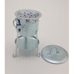 Metal brazier with lid