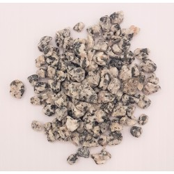Gray colored pebbles