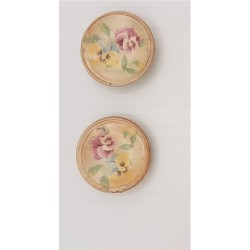 Set of 2 decorated plates