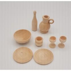 Set da cucina in legno