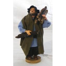 Shepherd with wood 12 cm...