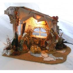 Arab hut with ruins x...
