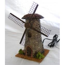 Windmill in stone effect resin