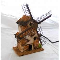 Resin windmill with wall...