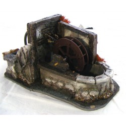 Water mill in resin with...