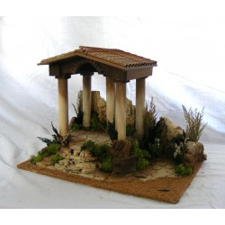 Nativity scene with front...
