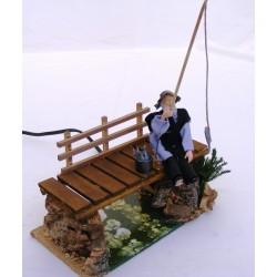 Fisherman on moving bridge...