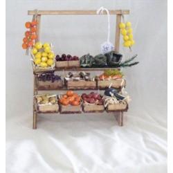 Fruit stand for nativity scene