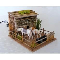 Cavalli nella stalla in...
