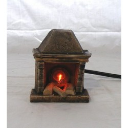 Fireplace with fire lamp