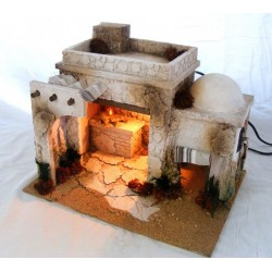 Arab hosteria with smoke...