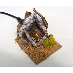 Small terracotta fire for...