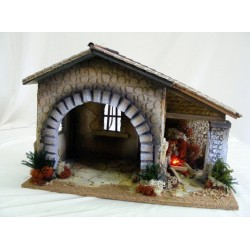 Hut with fire for nativity...