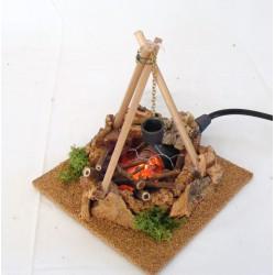 Fire tripod for nativity scene