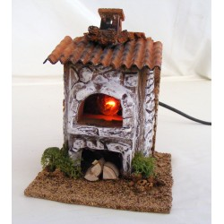 Terracotta oven with wood...