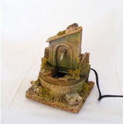 Round terracotta fountain...