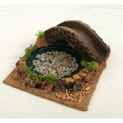 Resin pond with bridge for...