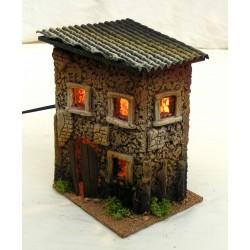 Casa piccola con 3 finestre...