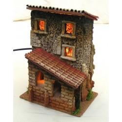 Casa con scala per presepe...