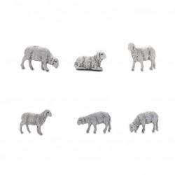 Busta con 6 pecore cm 6