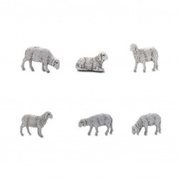 Envelope with 6 sheep cm 6