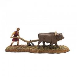 Farmer with oxen 6 cm