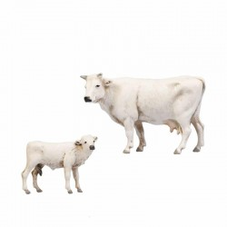 Cow and calf for 8 cm