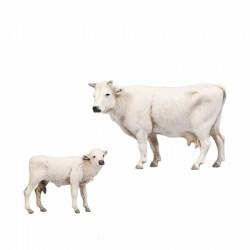 Mucca e vitello per cm 8