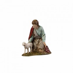 Shepherd with Lamb 10 cm