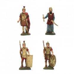 Set Re Erode e 3 Soldati cm 10