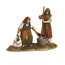 Group of Women with Pestle...